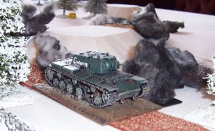 KV8 advances through the smoke
