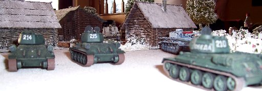 T34's advance and engage the Nashorns