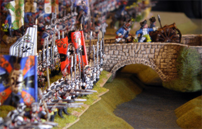 Prussians prepare to cross the river