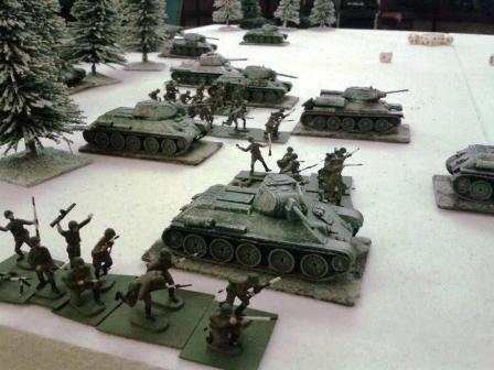 THE RUSSIAN HORDES EMERGE FROM THE WOODS